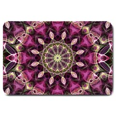 Purple Flower Large Door Mat by Zandiepants