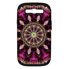 Purple Flower Samsung Galaxy S Iii Hardshell Case (pc+silicone) by Zandiepants
