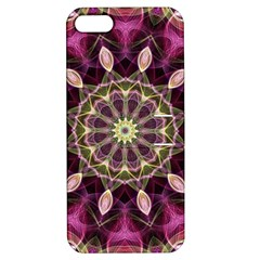 Purple Flower Apple Iphone 5 Hardshell Case With Stand by Zandiepants