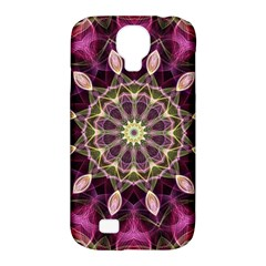 Purple Flower Samsung Galaxy S4 Classic Hardshell Case (pc+silicone) by Zandiepants