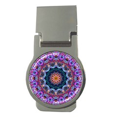 Purple Lotus Money Clip (round) by Zandiepants