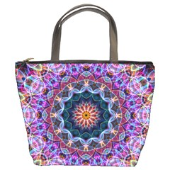 Purple Lotus Bucket Handbag by Zandiepants
