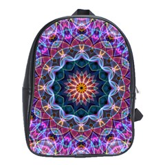 Purple Lotus School Bag (large) by Zandiepants