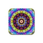 Rainbow Glass Drink Coaster (Square) Front