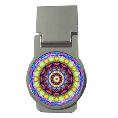Rainbow Glass Money Clip (round) by Zandiepants