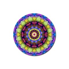 Rainbow Glass Drink Coaster (round)