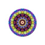 Rainbow Glass Drink Coaster (Round) Front