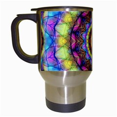 Rainbow Glass Travel Mug (white) by Zandiepants