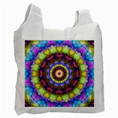 Rainbow Glass White Reusable Bag (two Sides) by Zandiepants
