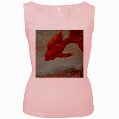 Gold Fish Women s Tank Top (pink)