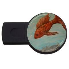 Gold Fish 2gb Usb Flash Drive (round) by rokinronda