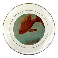 Gold Fish Porcelain Display Plate by rokinronda