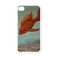Gold Fish Apple Iphone 4 Case (white) by rokinronda