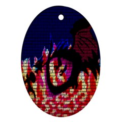 My Dragon Oval Ornament (two Sides) by Rbrendes