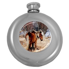Pretty Pony Hip Flask (round) by Rbrendes