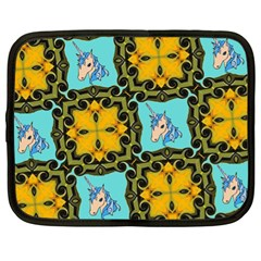 Orange Unicorn Netbook Sleeve (xl) by Rbrendes