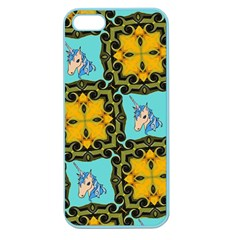 Orange Unicorn Apple Seamless Iphone 5 Case (color) by Rbrendes