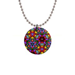 Bright Colors Button Necklace