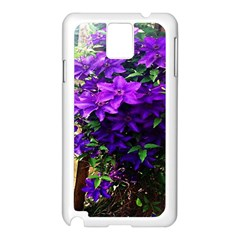 Purple Flowers Samsung Galaxy Note 3 N9005 Case (white) by Rbrendes