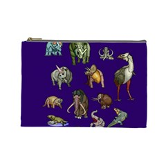 Dino Family 1 Cosmetic Bag (large) by Rbrendes