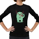 text me! Women s Long Sleeve T-shirt (Dark Colored) Front