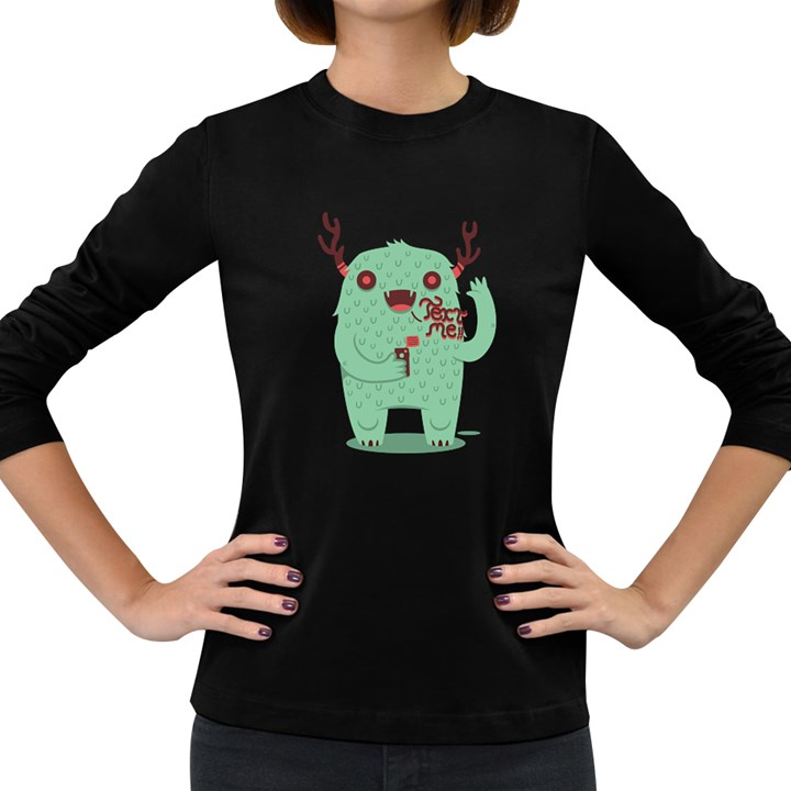 text me! Women s Long Sleeve T-shirt (Dark Colored)