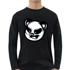 Badass Panda Men s Long Sleeve T-shirt (dark Colored)