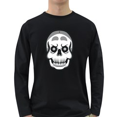 Skull Smile Men s Long Sleeve T-shirt (dark Colored) by Contest1915162