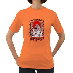Red Moon Zombie Women s T-shirt (colored) by Contest1731890