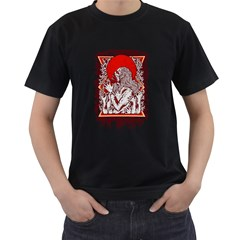 Red Moon Zombie Men s T-shirt (black) by Contest1731890