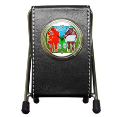 2 Yeh Ren,text & Flag In Forest  Stationery Holder Clock by creationtruth