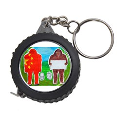 2 Yeh Ren,text & Flag In Forest  Measuring Tape by creationtruth