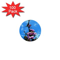 Pink Flower 1  Mini Button (100 Pack)
