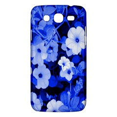 Blue Flowers Samsung Galaxy Mega 5 8 I9152 Hardshell Case  by Rbrendes
