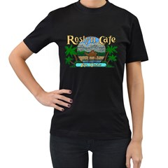 Roslyn Cafe  Women s T Shirt (black) by chivieridesigns