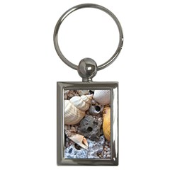 Beach Treasures Key Chain (rectangle) by StuffOrSomething
