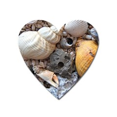 Beach Treasures Magnet (heart) by StuffOrSomething
