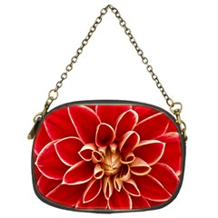 Red Dahila Chain Purse (two Sided)  by Colorfulart23