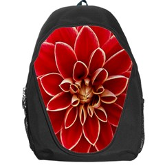 Red Dahila Backpack Bag by Colorfulart23