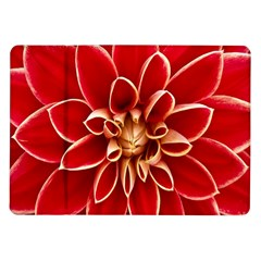 Red Dahila Samsung Galaxy Tab 10 1  P7500 Flip Case by Colorfulart23