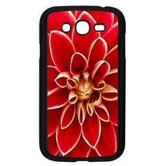 Red Dahila Samsung Galaxy Grand Duos I9082 Case (black) by Colorfulart23