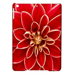 Red Dahila Apple Ipad Air Hardshell Case by Colorfulart23