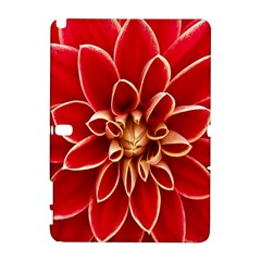 Red Dahila Samsung Galaxy Note 10 1 (p600) Hardshell Case by Colorfulart23