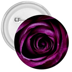 Deep Purple Rose 3  Button by Colorfulart23