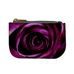 Deep Purple Rose Coin Change Purse by Colorfulart23