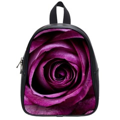 Deep Purple Rose School Bag (small) by Colorfulart23