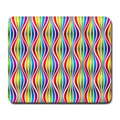 Rainbow Waves Large Mouse Pad (rectangle) by Colorfulplayground