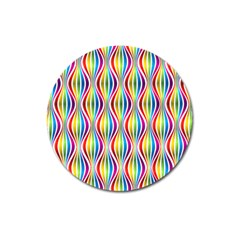 Rainbow Waves Magnet 3  (round) by Colorfulplayground