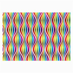 Rainbow Waves Glasses Cloth (large, Two Sided)