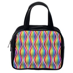 Rainbow Waves Classic Handbag (one Side) by Colorfulplayground